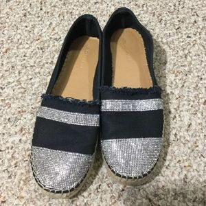 Kendall and Kylie black and diamond espadrilles